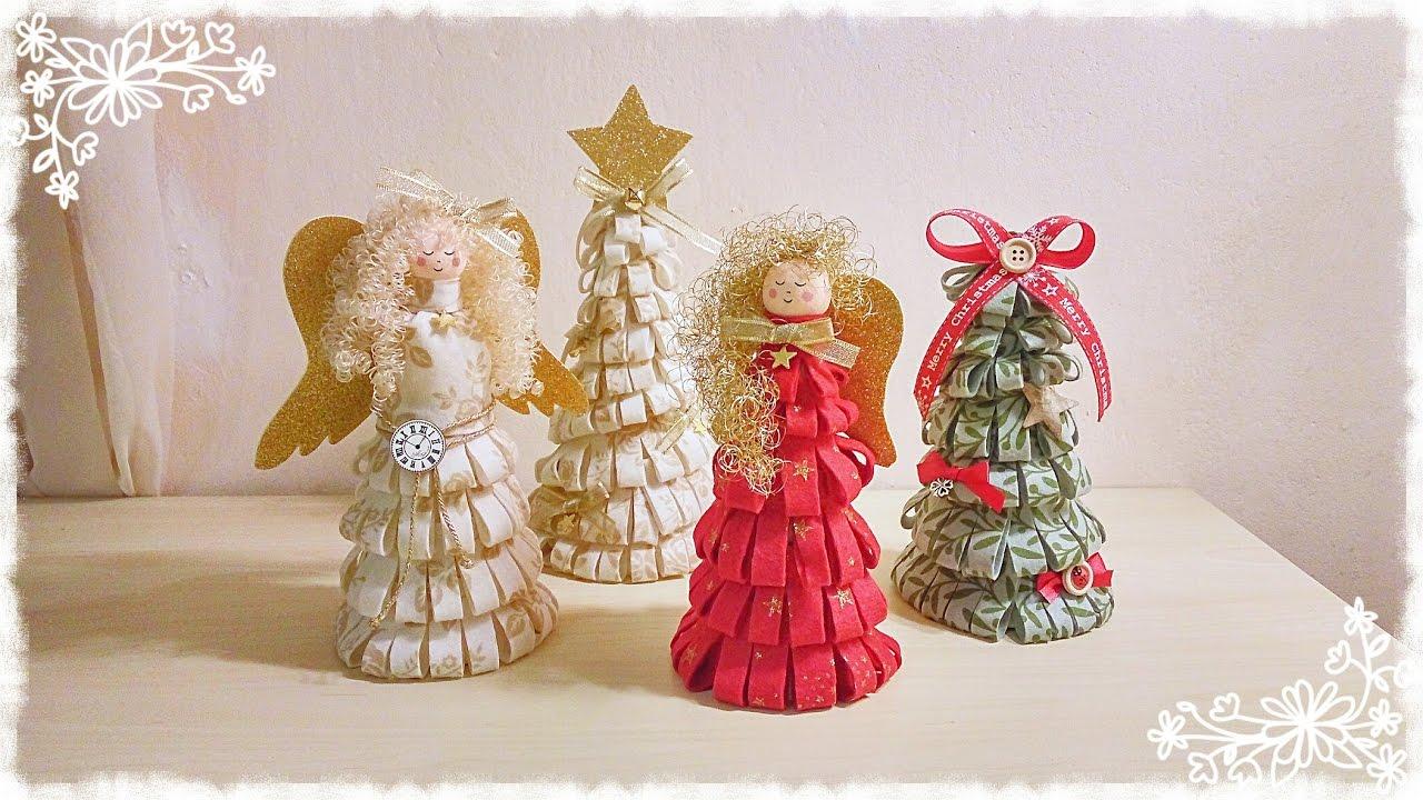 Souvent Alberi e Angeli natalizi in feltro senza cucire - YouTube YT49