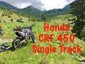 CRF 450 single track riding