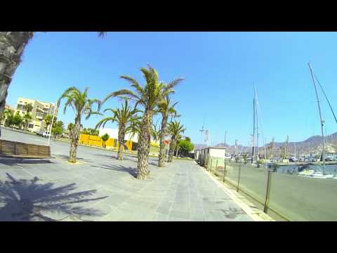 The waterfront and docks at Cartagena Spain