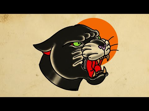 HOW TO DRAW A PANTHER HEAD TATTOO