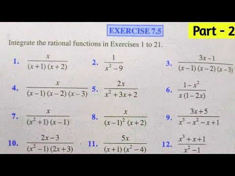 CBSE CLASS 12th Mathematics Exercise 7.5 NCERT SOLUTIONS || Ex 7.5 Class 12 || CHAPTER 7 INTEGRALS