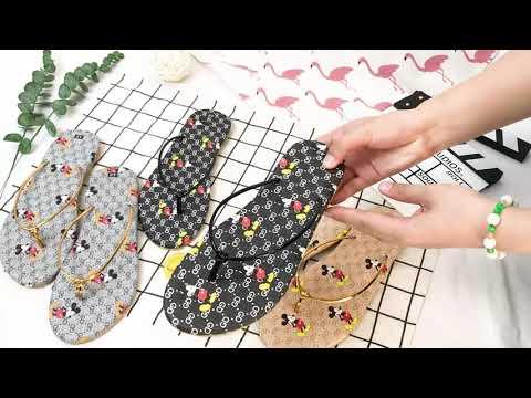 Dép nữ xỏ ngón big size quai dây chắc chắn thời trang hình Micky Hot trend