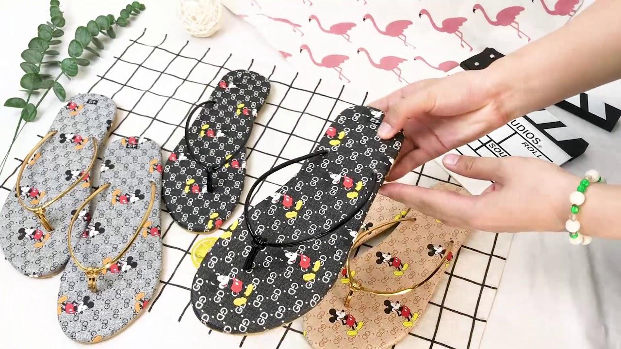 Dép nữ xỏ ngón big size quai dây chắc chắn thời trang hình Micky Hot trend   Tất tần tật thông tin về thời trang nữ