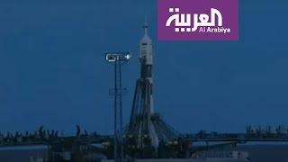 لحظة انطلاق رحلة أول رائد فضاء إماراتي