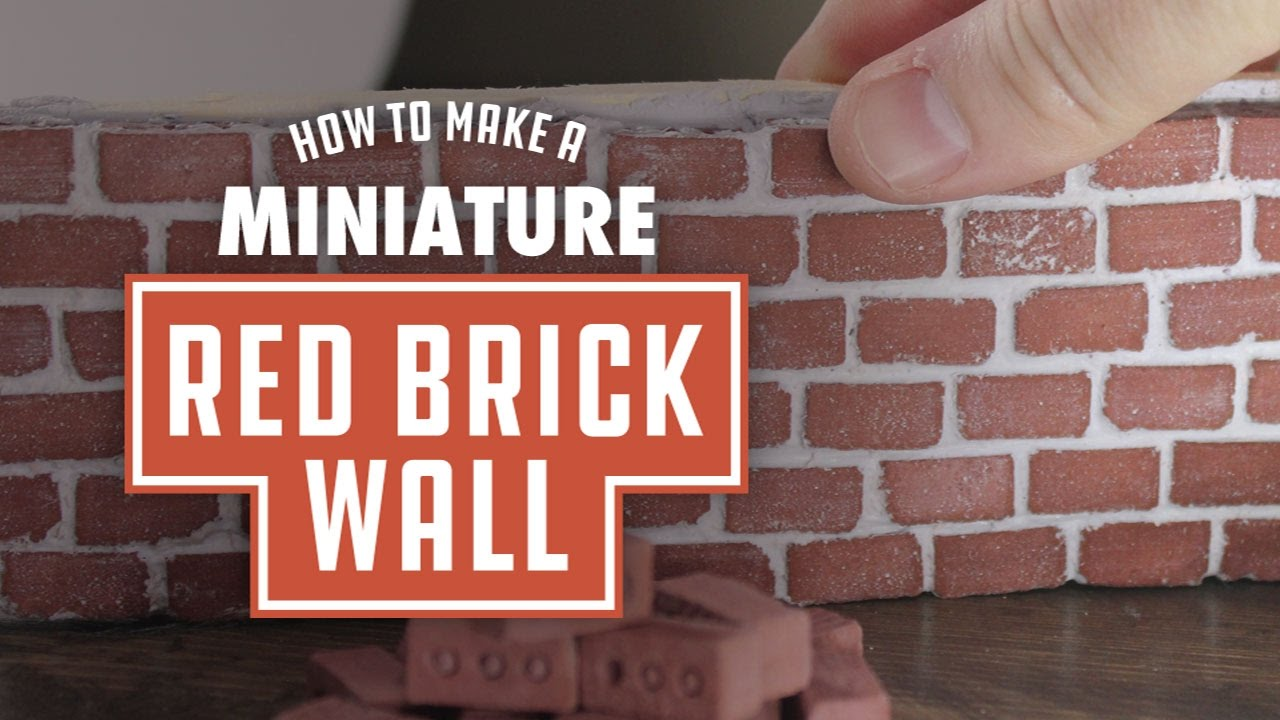 How To Make A Mini Red Brick Wall