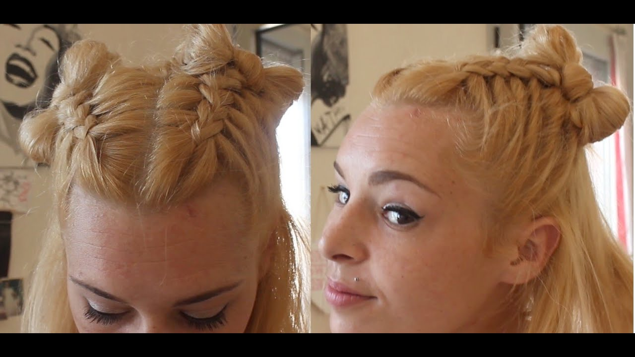 Coiffure Tresse Noeud Coiffure Tresses Et Noeud Cheveux Mi Long Youtube