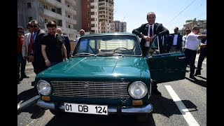 Başkan Sözlü Alparslan Türkeş Bulvarı'nın 1. Etabını Klasik Otomobili ile Hizmete Açtı