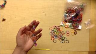 How To Make A Simple Silicone Jewelry With Anoska Loom Bands - Video Training