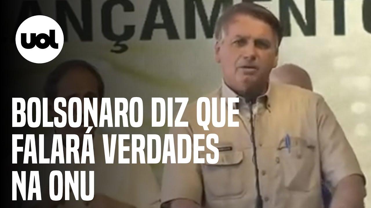 Download Bolsonaro faz ataques à esquerda e diz que falará verdades na ONU
