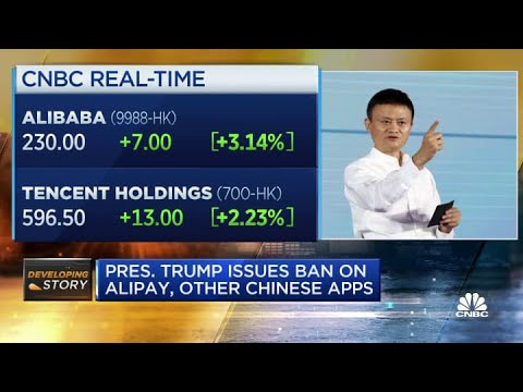 Trump issues ban on U.S. transactions with eight Chinese apps including Alipay