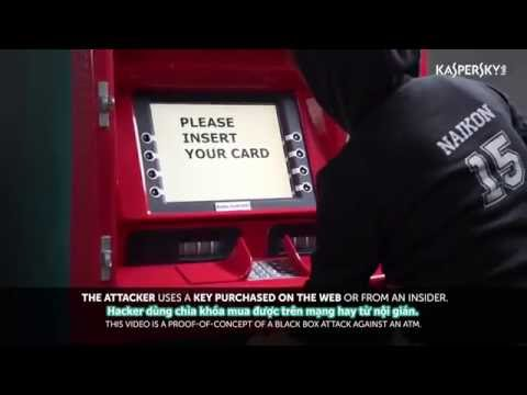 Rút Sạch Tiền Trong Trụ ATM Bằng Hộp đen