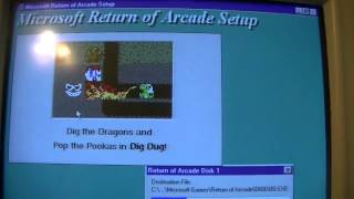 Installing Microsoft Return of Arcade for Windows 95