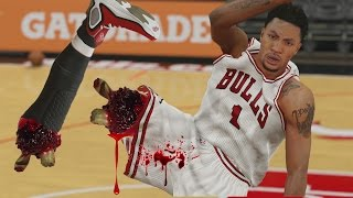 nba 2k15 myteam wtf injury most injuried players challenge funny gameplay