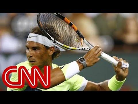 Rafa's racket is wired!