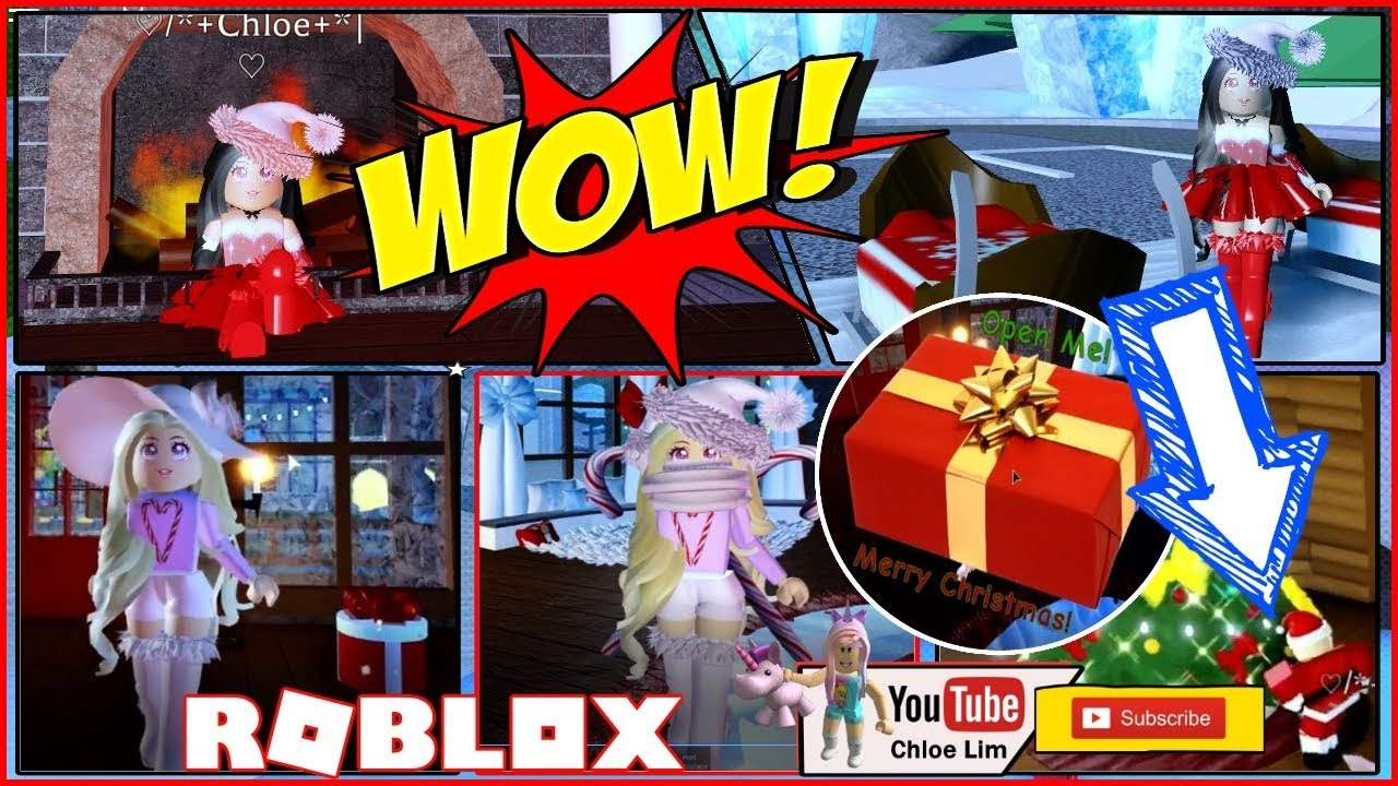 Roblox Gameplay Royale High I Met Santa And Got Lots Of