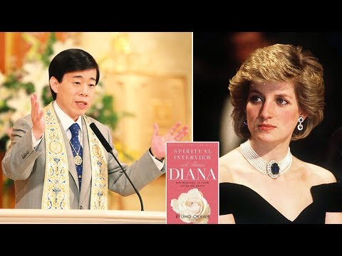 Okawa claims to have spoken with Diana's spirit earlier this month in a Japanese lecture hal