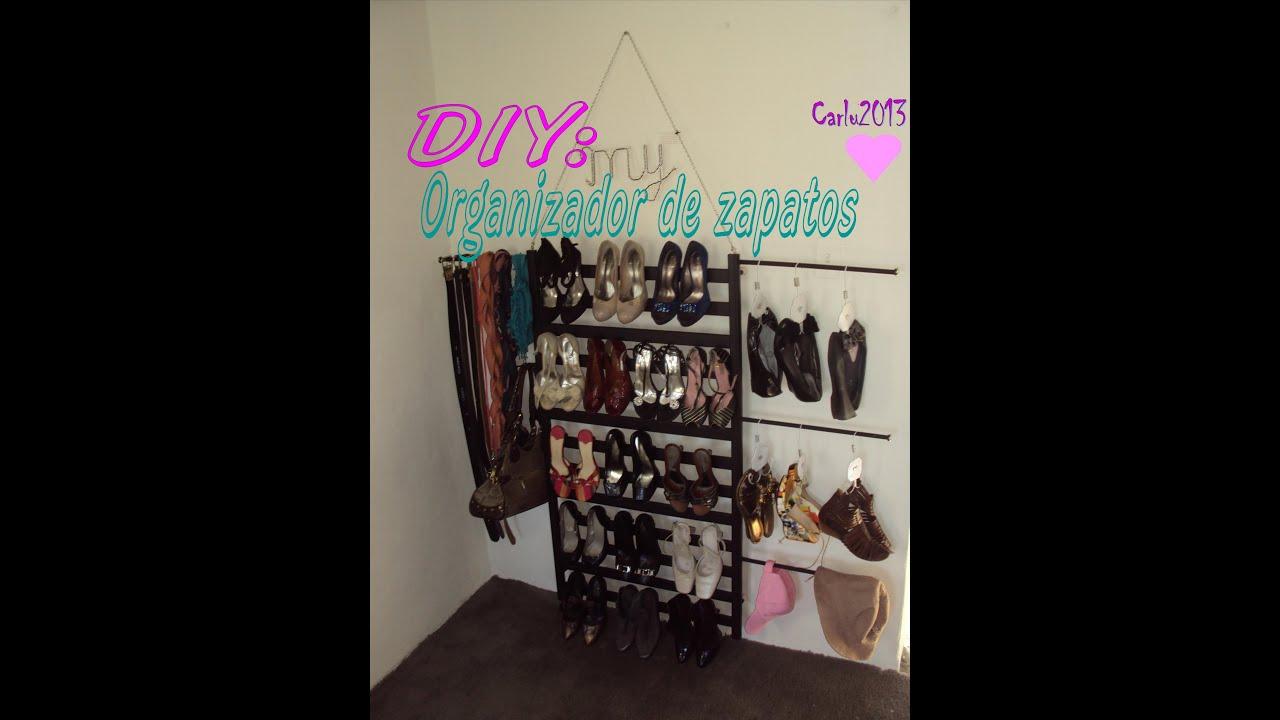 Diy organiza tu closet organizador de zapatos multifu for Organizadores para closet