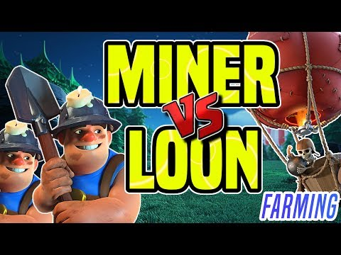 MASS MINER FARMING vs. LALOON and LOONION FARMING   Clash of Clans