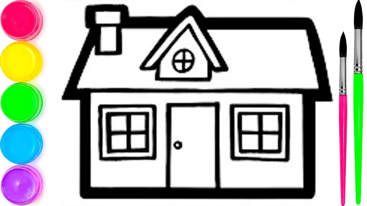 Pelajari Menggambar Dan Mewarnai Rumah Mainan Untuk Anak Anak