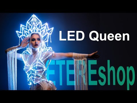 LED Rainbow Queen Dress Suit Rave Costume By ETEREshop _C25