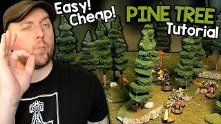 Easy! Cheap! Modular Pine Trees for Tabletop Games! SIMPLE!