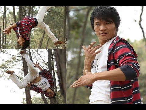 Amazing stunt by Nepali Tony Jaa Chiran Rai|HD Rai