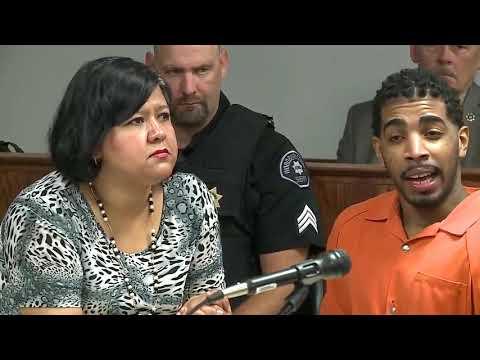 Wesley Correa-Carmenaty speaks in hearing