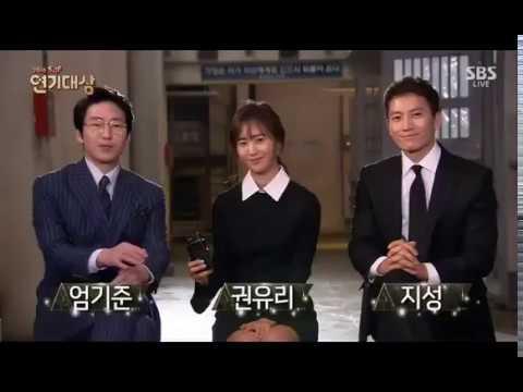 161231 Defendant Casts (Yuri, Ji Sung & Uhm Ki Koon) Interview @ SBS Drama Awards