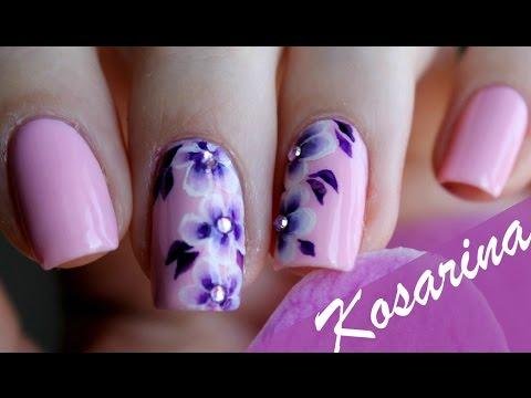 Учимся делать простые рисунки на ногтях Красивые ногти