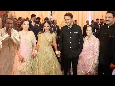 Mukesh Ambani's Daughter's WEDDING Reception With Ambani Family Full Video Hd