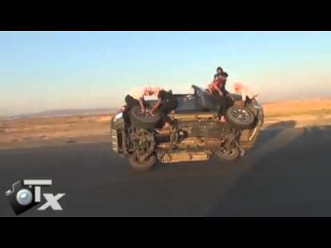 Changing car tires Arab style