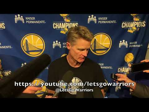 """Entire STEVE KERR postgame: """"We've got to be smarter. Didn't play a smart, focused game"""""""