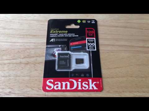 128GB SanDisk Extreme A1 SDXC U3 4K Micro SD Card Overview 5-25-17
