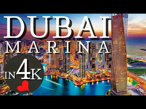 [4K] Walking at night on Dubai Marina - Dubai Marina Nightli