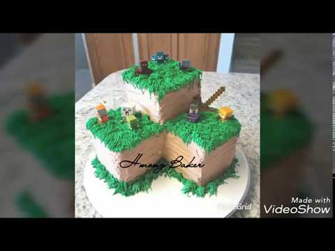 Easy DIY Minecraft Grass Block Cake