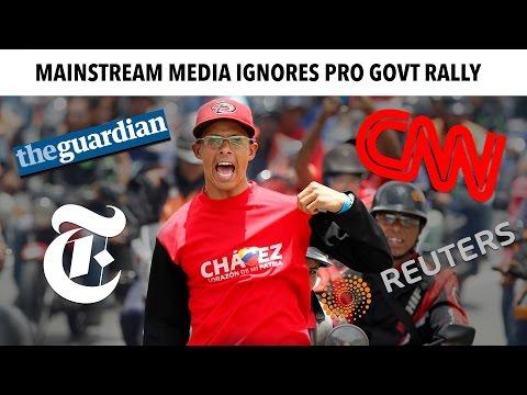 Mainstream Media Ignores Venezuela's Pro Govt Rally