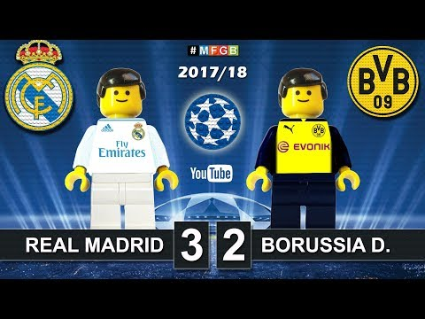 Real Madrid vs Borussia Dortmund 3-2 • Champions League 2018 (06/12/2017) Goals Highlights Lego