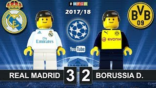 Real Madrid - Borussia Dortmund 3-2 • Champions League (06/12/2017) Goals Highlights Lego 2017/18