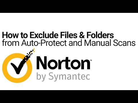 Norton Tutorial: Exclude Files & Folders Auto/Manual Scans