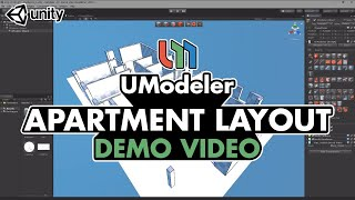 Apartment layout based on CAD Plan - UModeler Demo Reel