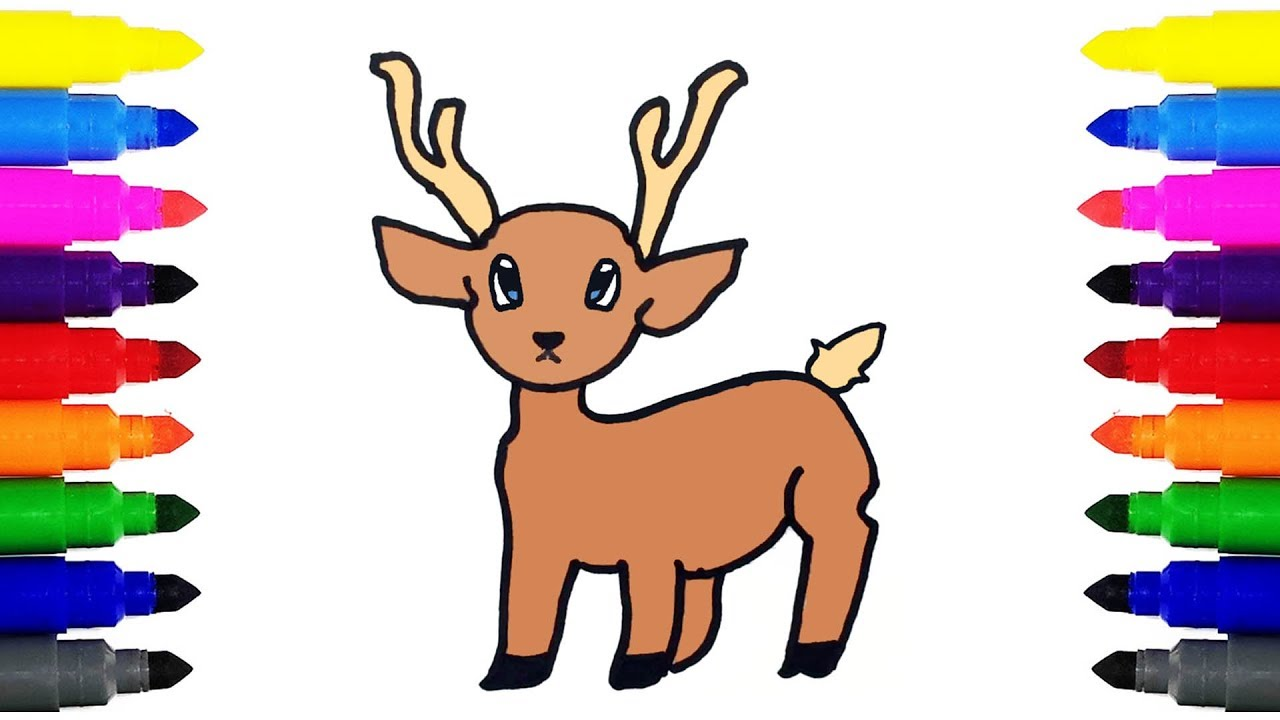 How To Draw A Deer For Kids Youtube