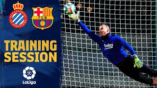 Neto impresses and a Messi volley masterclass in training before Espanyol clash