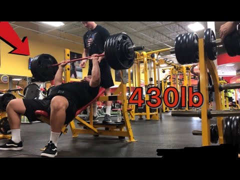 Heavy Incline Bench Workout - 430 Lb Incline Bench Press