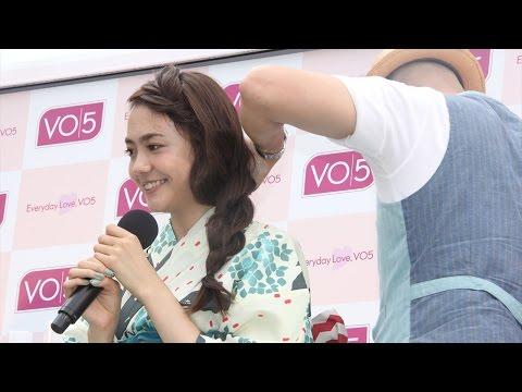 松井愛莉、浴衣に似合うヘアアレンジを生体験!「VO5ヘアスタイリングワゴン」イベント2
