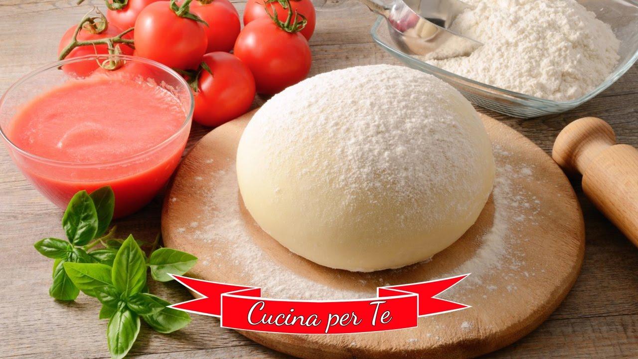 Ricetta Pasta X Pizza Fatta In Casa.Impasto Per La Pizza Fatto In Casa Youtube