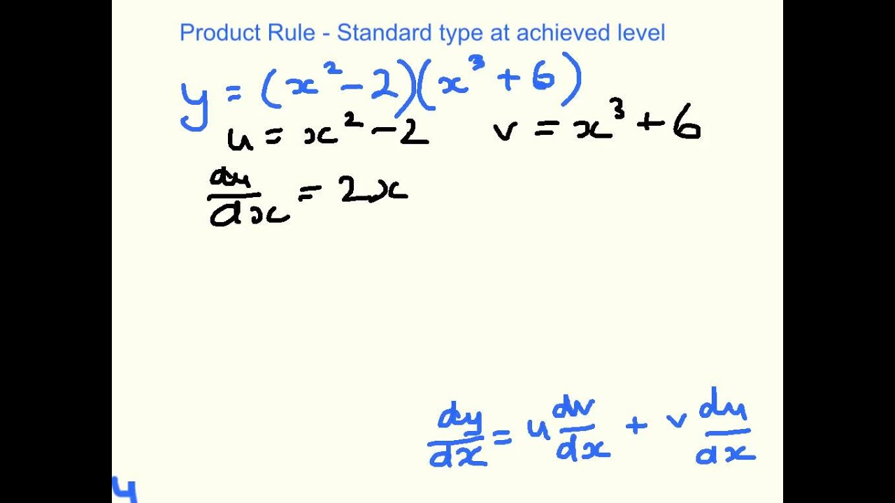 Simple Product Rule Example Youtube