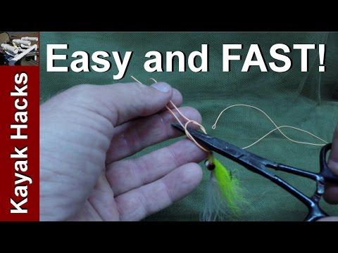 Tie easy Kreh Loop Fishing Knot with Forceps