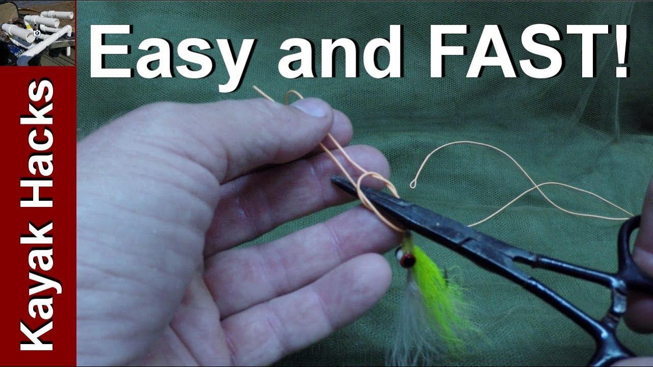 Fishing knots with forceps tie easy kreh loop fishing for Fishing knots youtube
