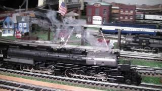 MTH Premier UP BIg Boy (4-8-8-4) O-Gauge Steam Locomotives Double-Headed in True HD 1080p