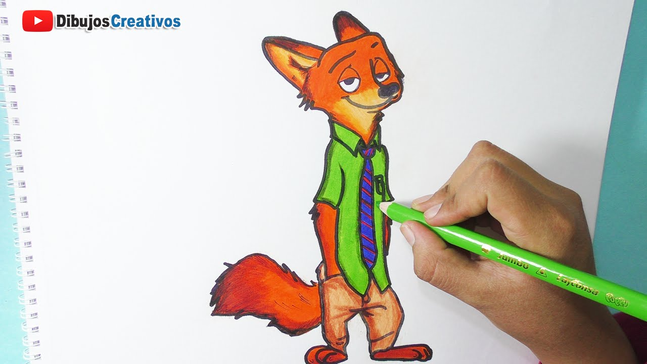 Dibujando Y Pintando A Nick Wilde Zootopia Drawing And Painting Nick Wilde